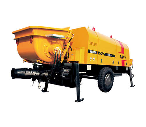 SANY HBT6006A-5 70m³/h Electric Trailer Pump  Trailer-Mounted Concrete Pump