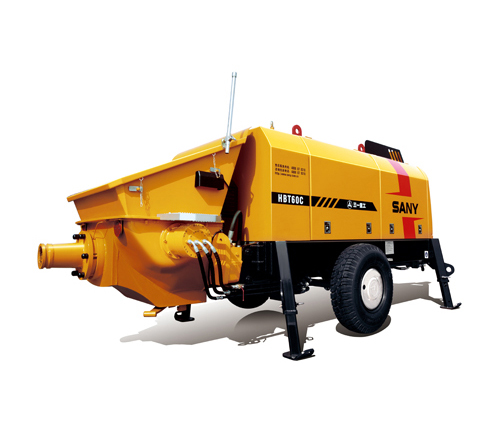 SANY HBT6016C-5 70m³/h Electric Trailer Pump  Trailer-Mounted Concrete Pump