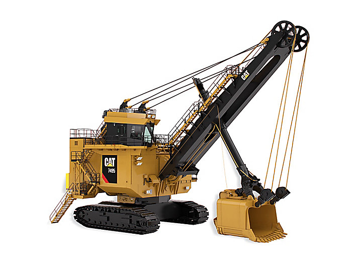 Cat Electric Rope Shovels 7495 with Rope Crowd