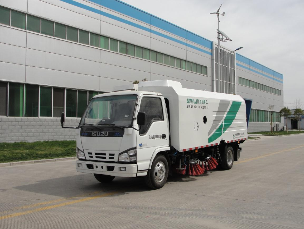 SHENGYUAN Isuzu Cleaning Sweeping Vehicle
