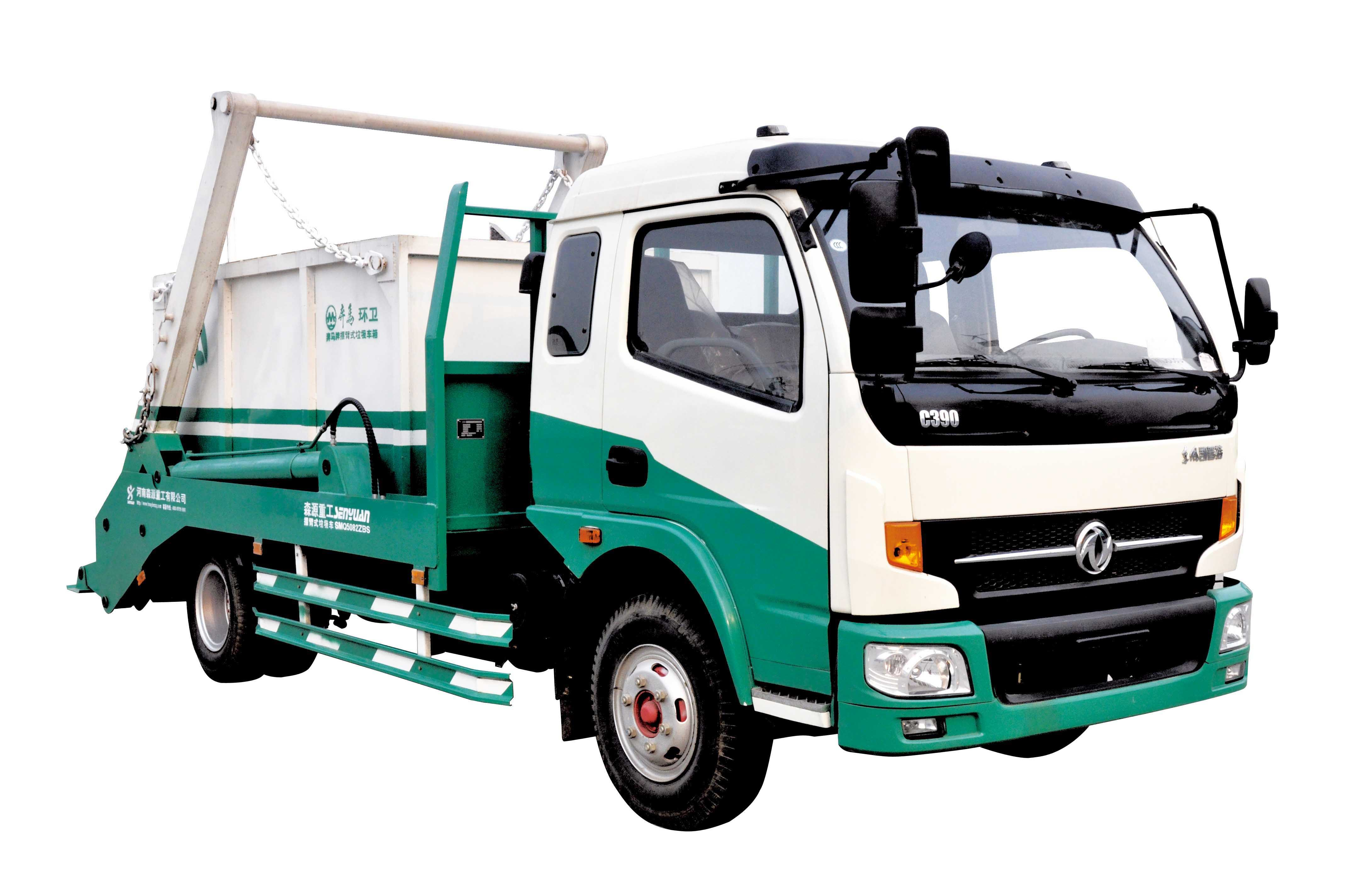 SHENGYUAN Swept-body Garbage Truck with Dongfeng Chassis